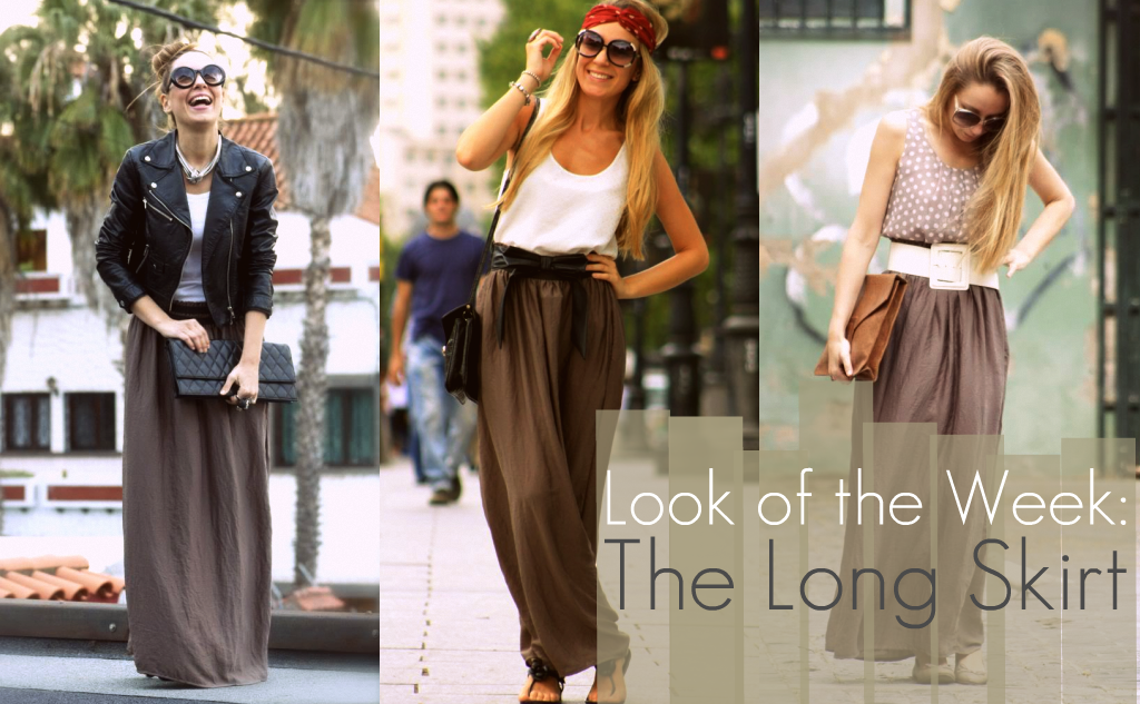 how to wear long skirts without looking frumpy